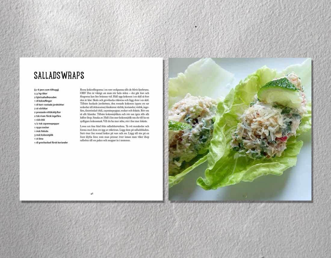 Recept på salladswraps ur Misans mat av UllaMi Nyhuus