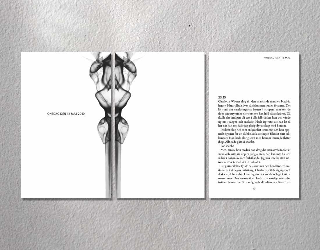 Sidor ur romanen Annan påföljd av Nina Larsdotter