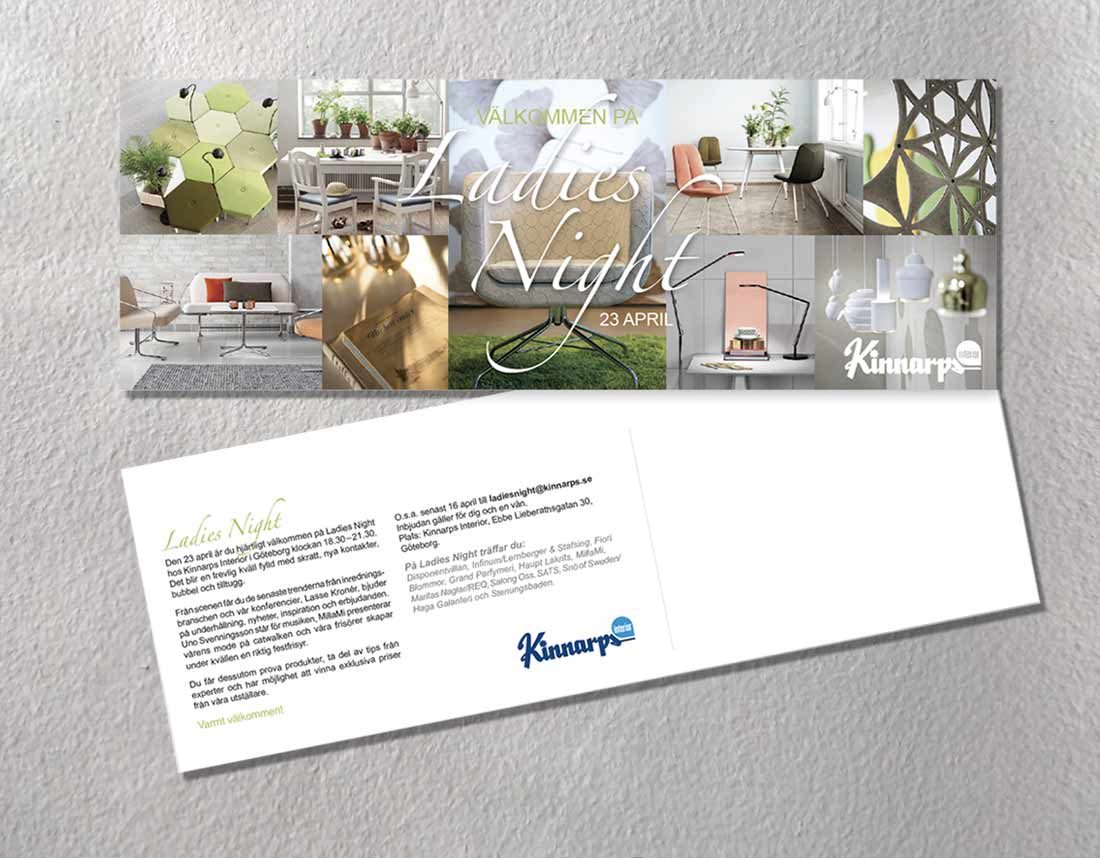Kinnarps - ADR Inbjudan Ladies Night
