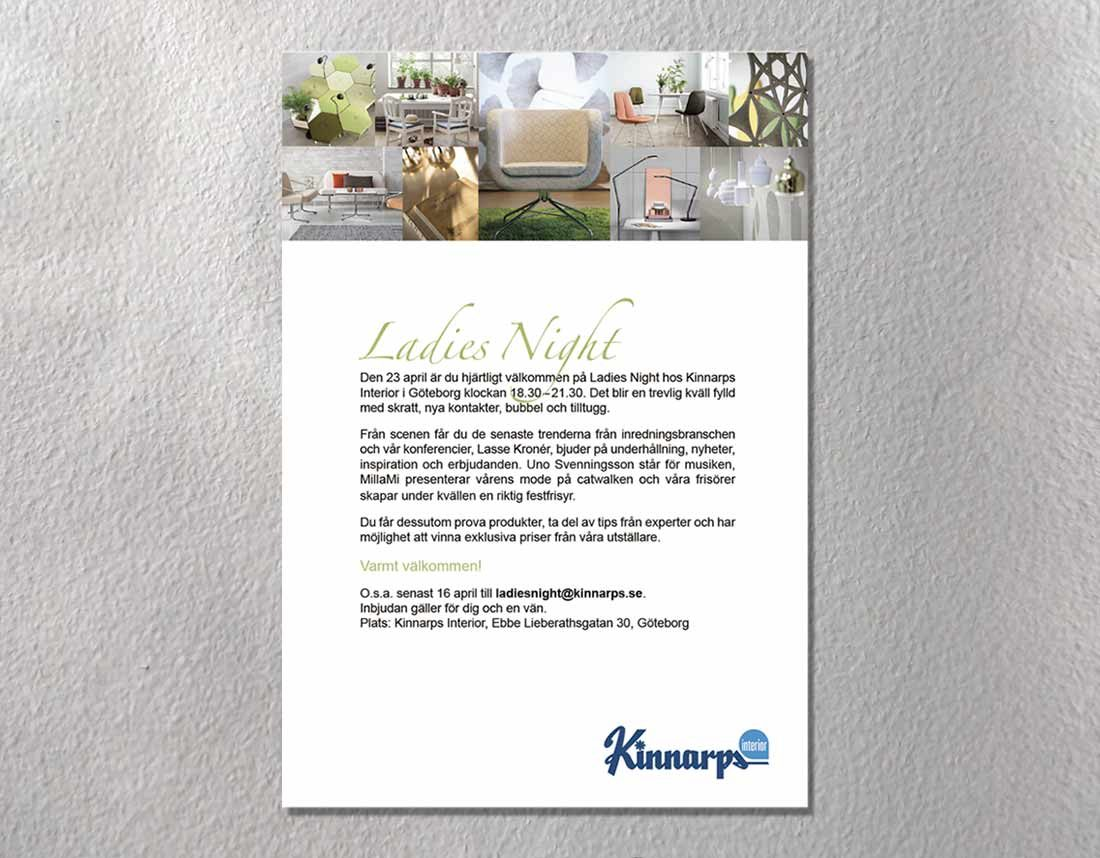 Kinnarps - Inbjudan Ladies Night