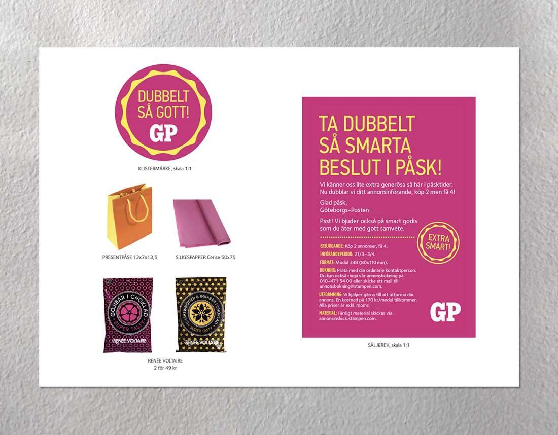 Påskkampanj för annonsering i GP - Enheter