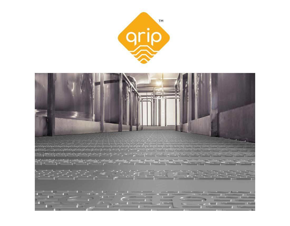 Qrip - trademark och brandat golv