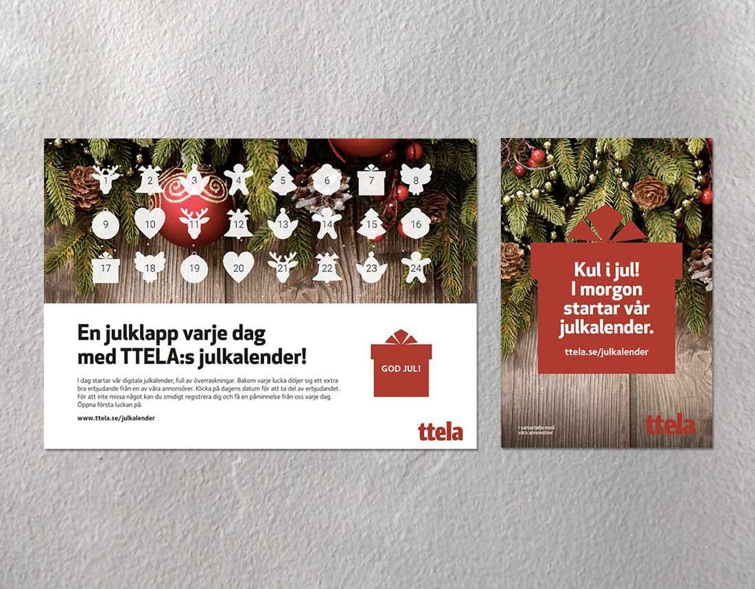 Annonser för julkalender hos TTELA
