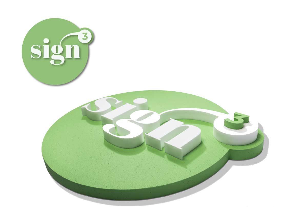 sign3 – Logotyp och foamskylt